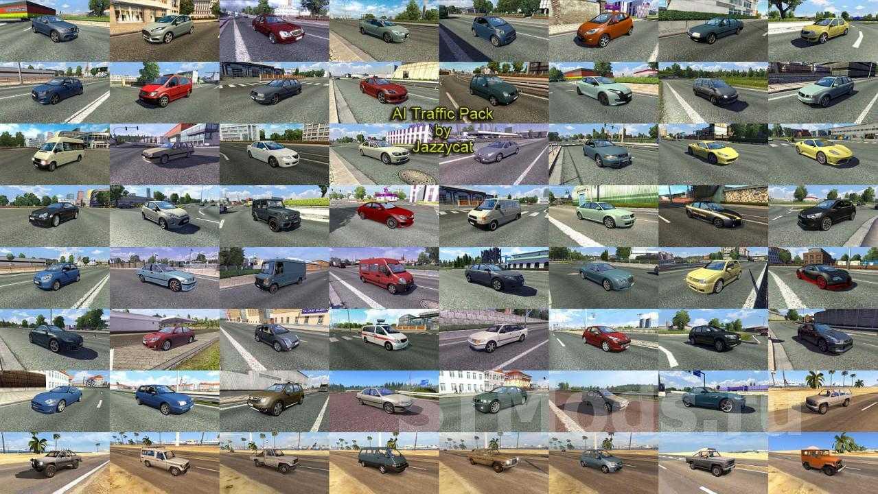 Мод AI Traffic Pack версия 16.0 для Euro Truck Simulator 2 (v1.41.x)